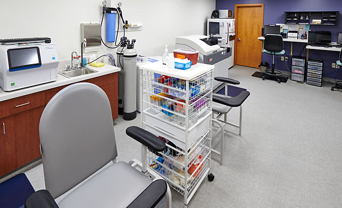 Lancaster Cancer Center laboratory
