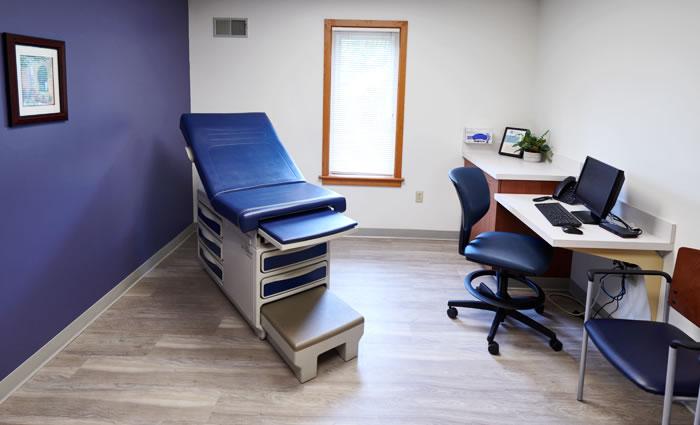 Lancaster Cancer Center exam room